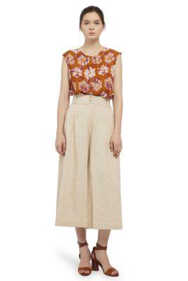 Padma Sleeveles Batik Fractal Casual Women Blouse 5